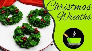 Marshmallow Christmas Wreaths | Cornflake Christmas Wreaths | No-Bake Recipes | Christmas Recipes