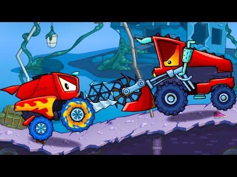 Хищные машины Машина ест машину Car Eats Car #14 мультик игра для детей про гонки МАШИНКИ КИДА