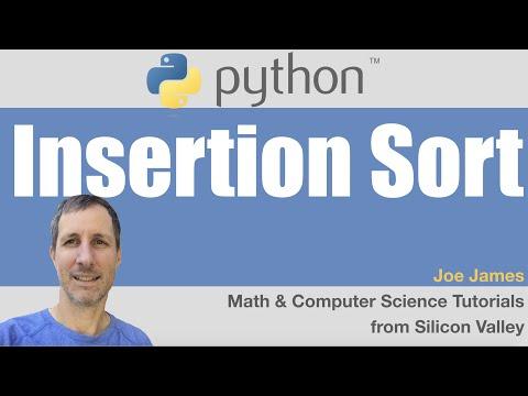 Python: InsertionSort algorithm