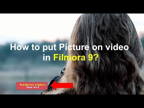 How to put picture on video in Filmora 9
