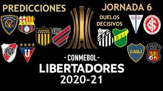 Copa Libertadores 2020-21 | Jornada 6 | Predicciones