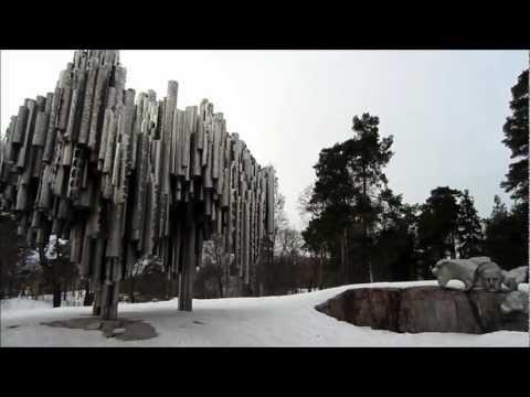 Sibelius Monument in a deep Snow: Helsinki Finland - Sibelius Park
