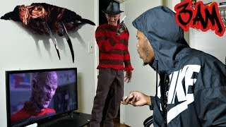 DO NOT WATCH THE FREDDY KRUGER MOVIE AT 3AM!!!! FREDDY CAME TO MY HOUSE AND SLICED ME OMG!!!
