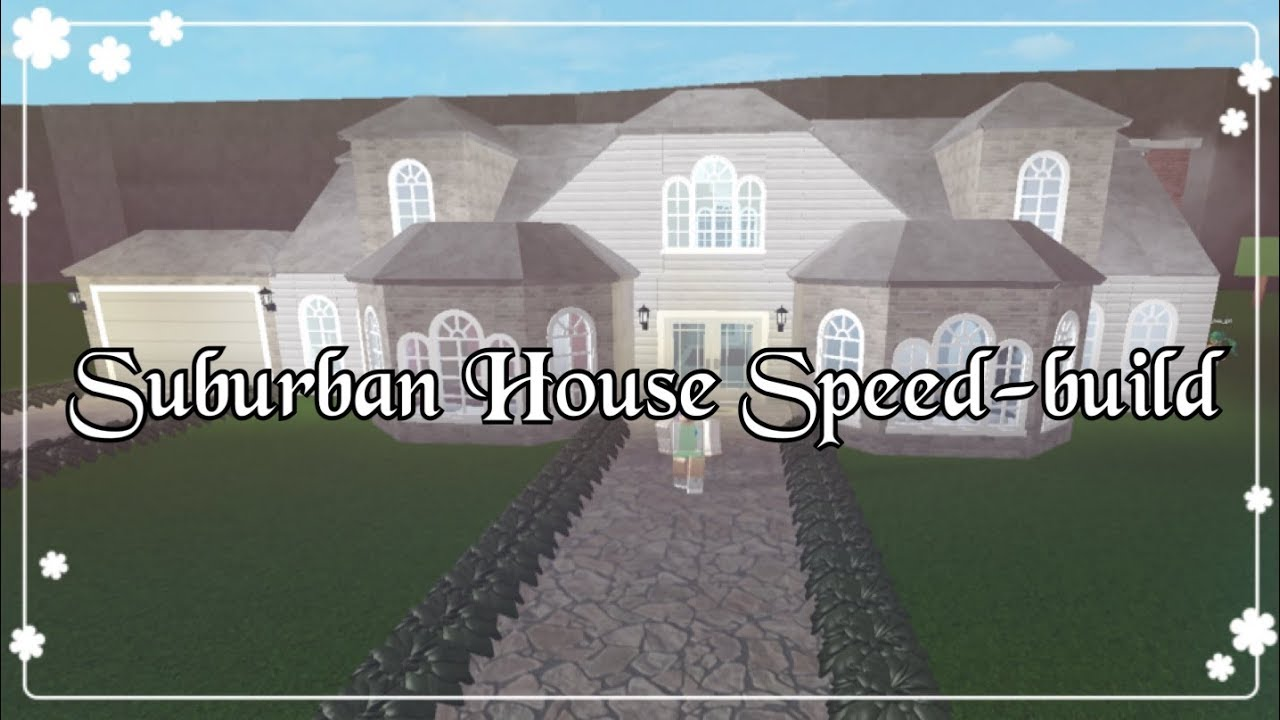 Bloxburg Suburban House Speed Build Youtube
