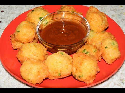 Corn Fritters Recipe - Fried Corn Balls - Corn Nuggets