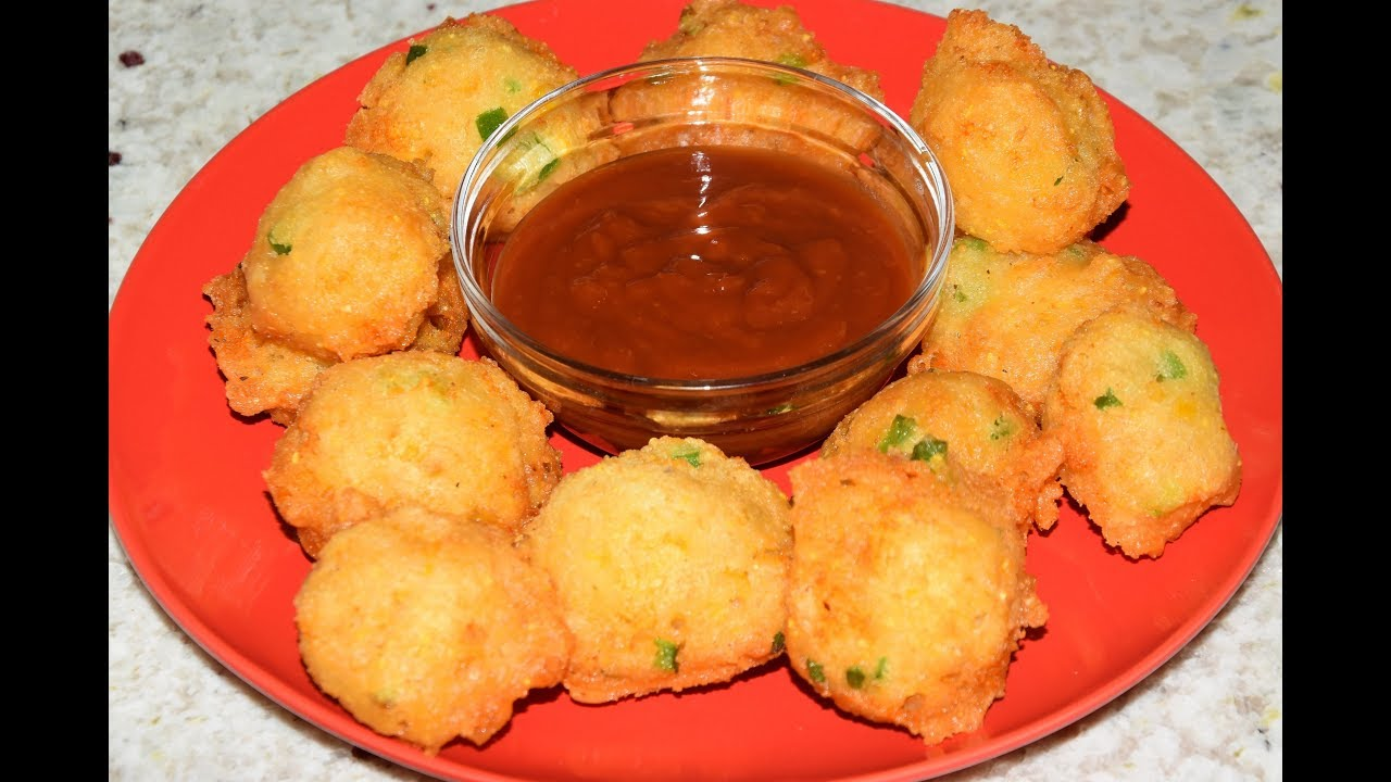Corn Fritters Recipe - Fried Corn Balls - Corn Nuggets ...