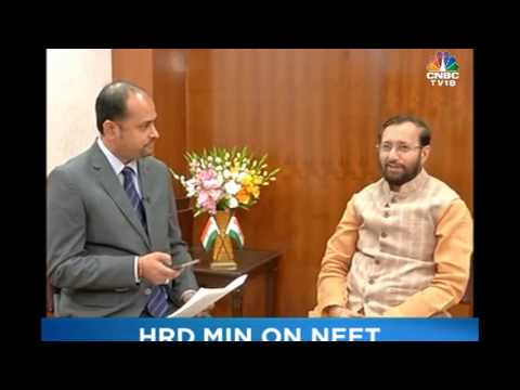 HRD Minister Prakash Javadekar at exclusive interview: CNBC-TV18 on 29-05-2017