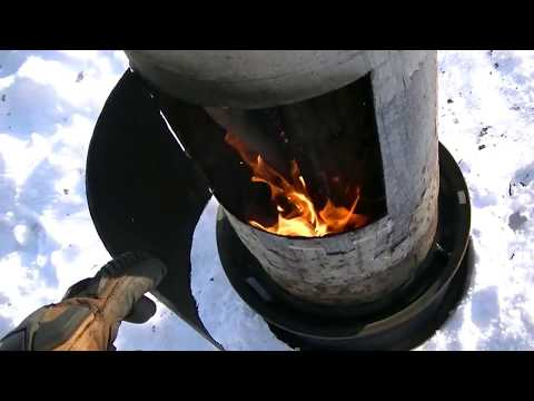 EZ DIY LP Tank Wood Stove Space Heater Fire Pit