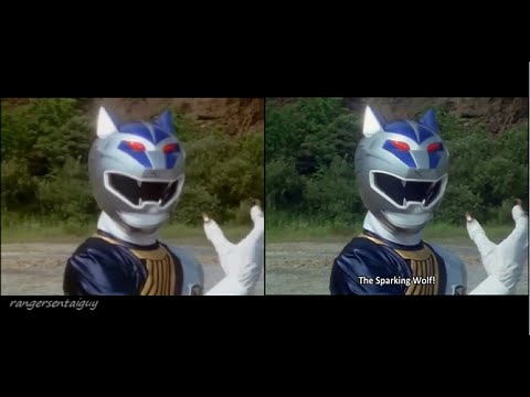 Power Rangers Wild Force Silver Wolf...