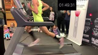 Ridiculously Dangerous Treadmill Run - Olympic Runner Tries a Mile Treadmill World Record