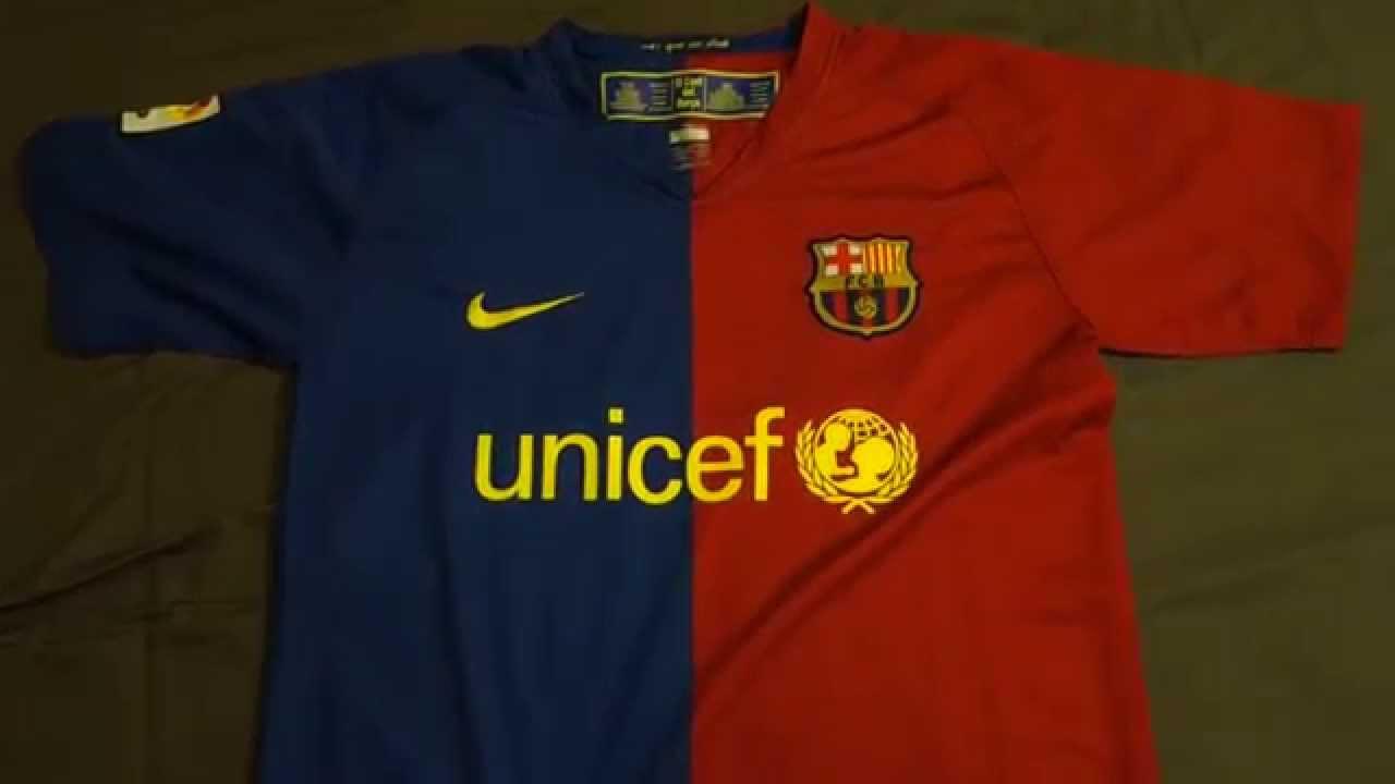01186fa2df0 Retro Review: 2008-2009 FC Barcelona Replica Home Jersey - YouTube