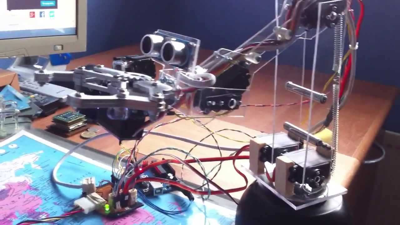 Homemade robot arm with arduino youtube