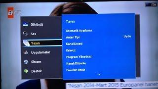 Samsung Smart Tv Turksat - Uydu - Frekans Ayarlama [14.05.2016]