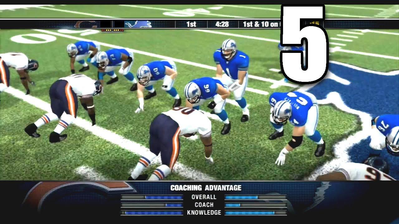 NFL Head Coach 09  Part 5 Detroit Lions vs Chicago Bears  YouTube