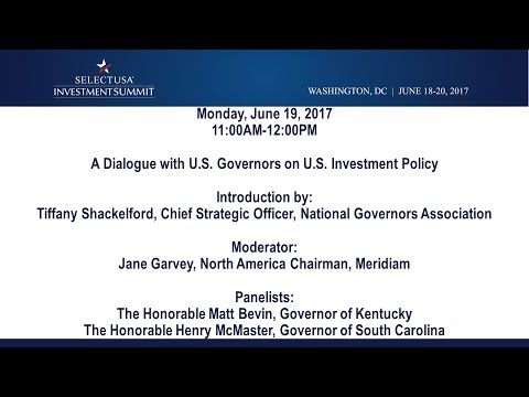A Dialogue with U.S. Governors on U.S. Investment Policy