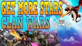 "CLASH OF CLANS - CLAN WARS! ""HOW TO GET MORE STARS + HOW TO WIN"" (MUST WATCH)"