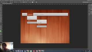 Создание навигационное меню для сайта в Photoshop CS6 (2/2)