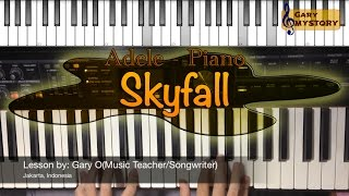 Skyfall - Adele Easy Piano Tutorial Video (Keyboard Lesson With Free Piano Sheet Music)
