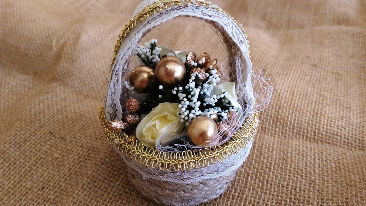 Yumurta Kolisinden Minyatür Sepet Yapımı