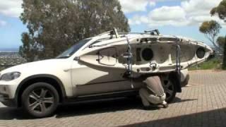 Loading a Hobie Outback using a Thule Hullavator