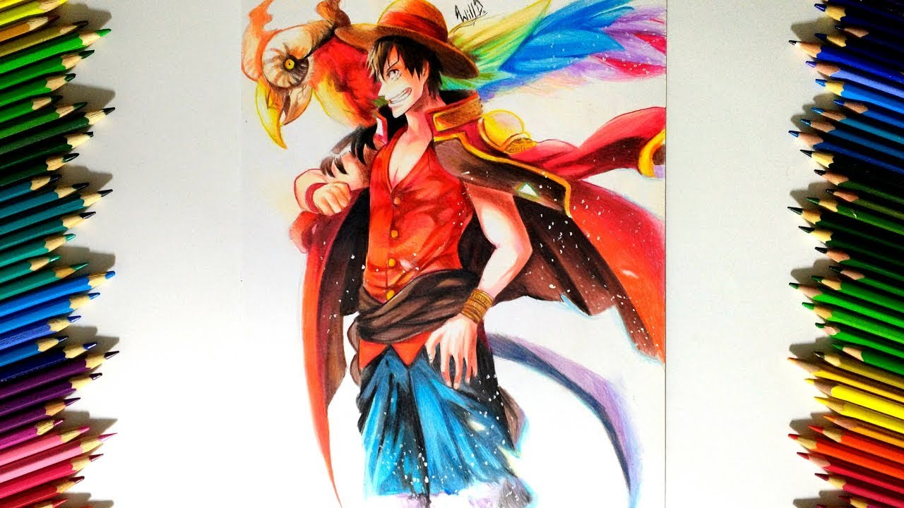 Drawing - Monkey D Luffy (One Piece)
