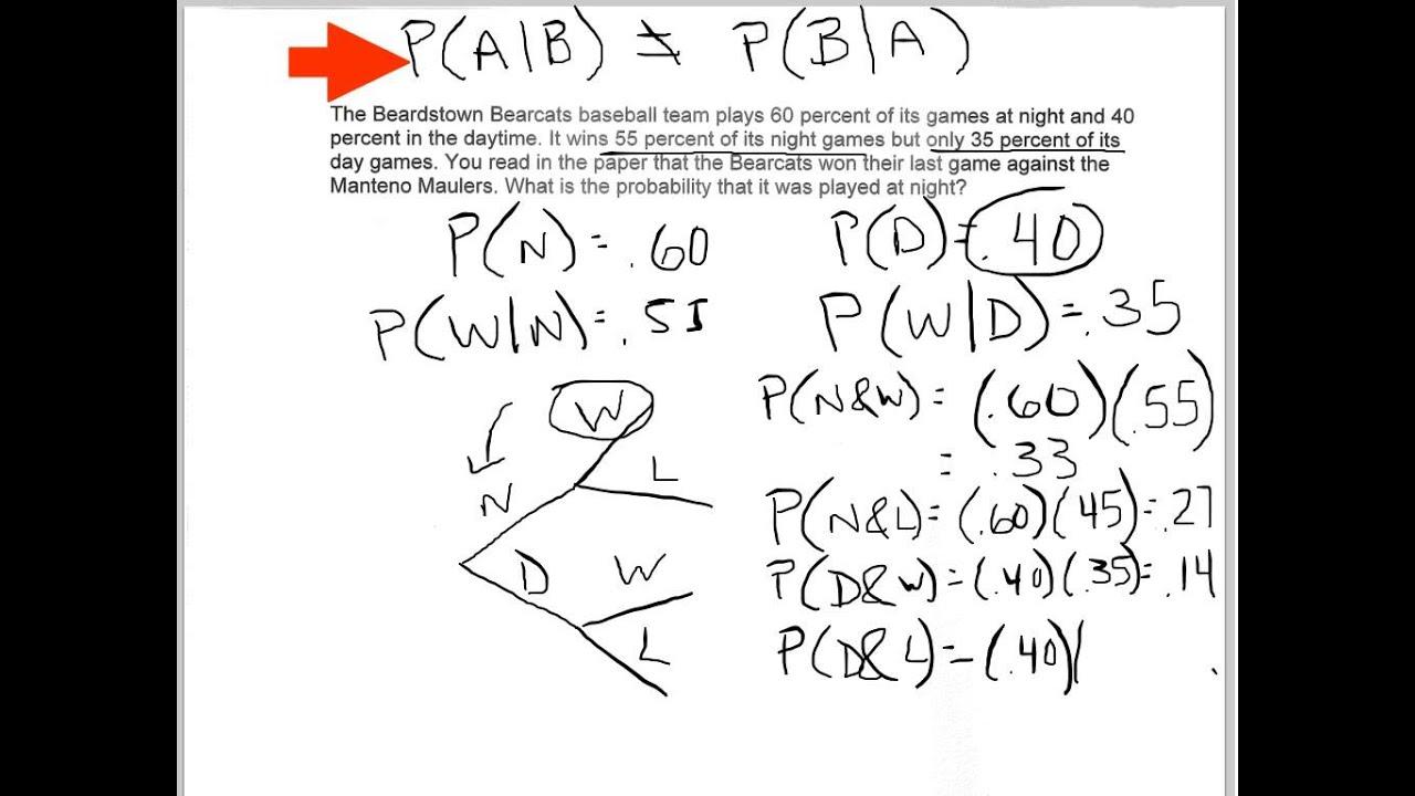 Bayes Theorem Example 1 Youtube
