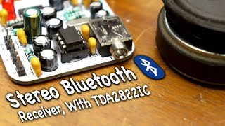 Audio Stereo Bluetooth Receiver With TDA2822 IC Amp # Easy Project #