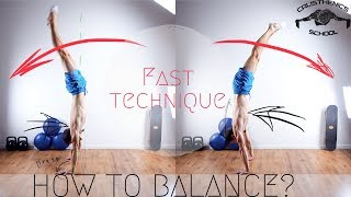 HOW TO GET BALANCE IN THE HANDSTAND?! The easiest way!