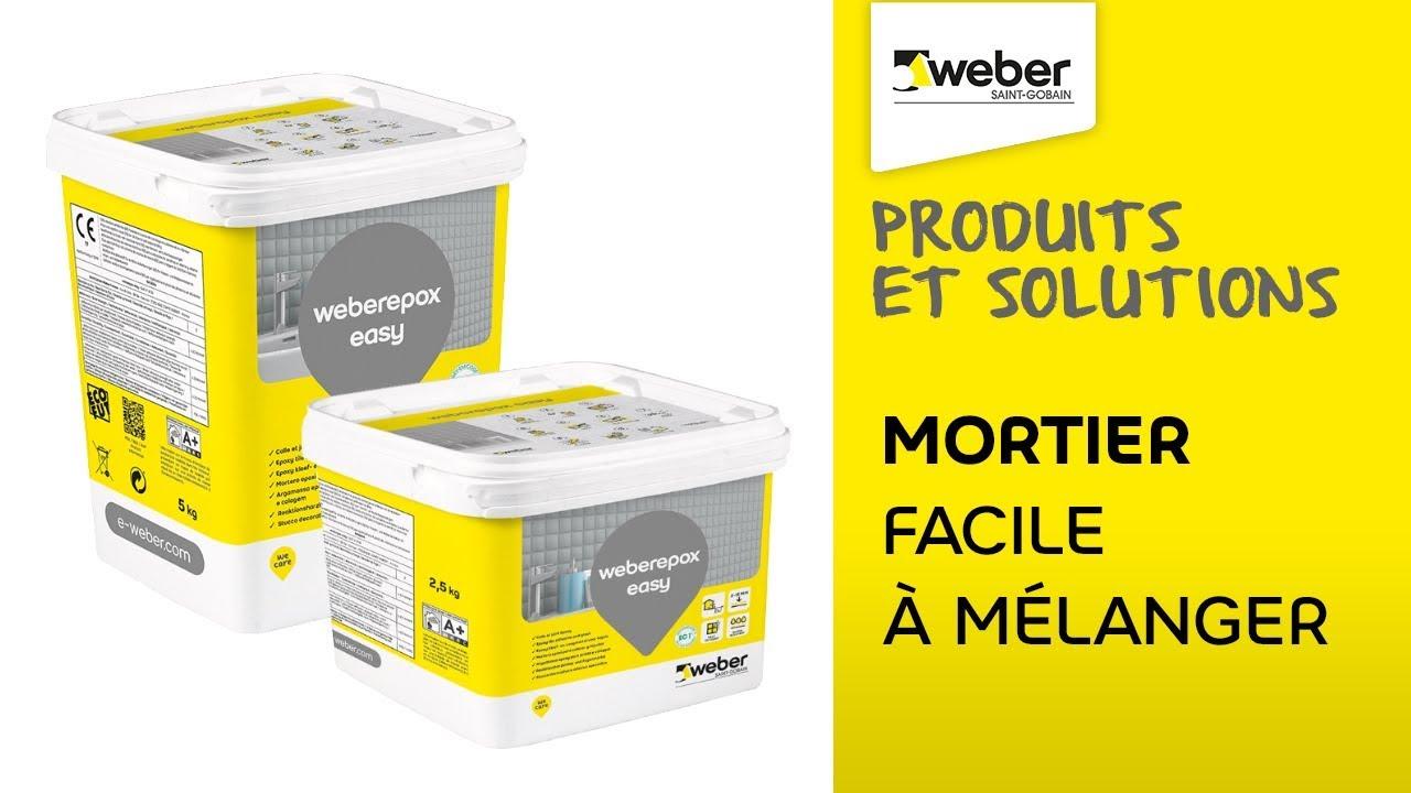 Un Mortier Colle Facile A Melanger Et A Etaler La Solution Weberepox Easy Weber Youtube