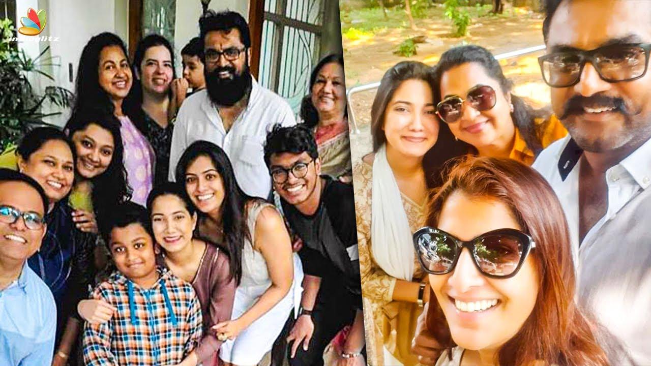 Radhika & Varalakshmi's Fun Time With Family   Sarathkumar   Latest Cinema News