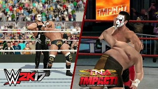 WWE 2K17 PS4 VS TNA IMPACT PS3 FINISHER COMPARISON