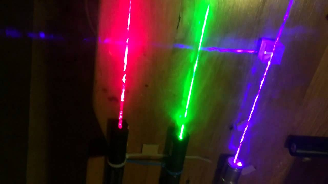 Dichroic Prisims With Different Colour Lasers Youtube