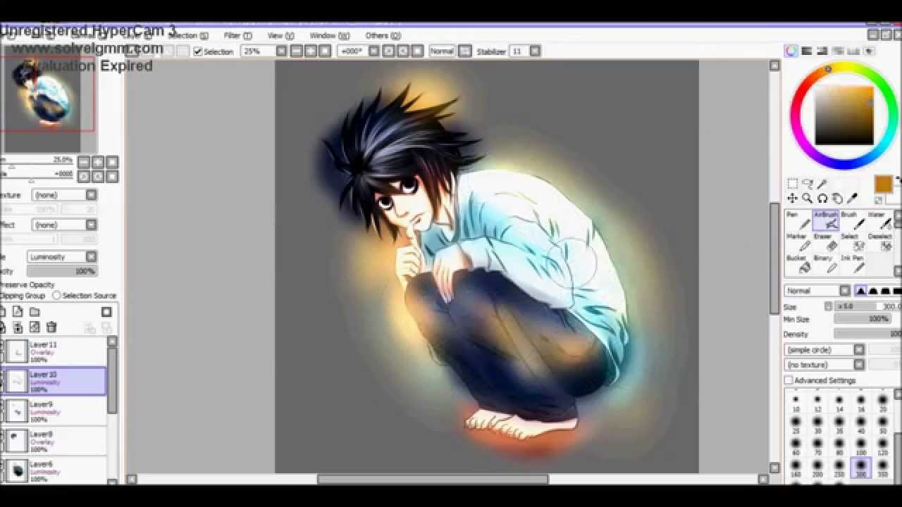 Google themes death note - Drawing L Lawliet From Death Note Anime Manga Drawing Speedpaint