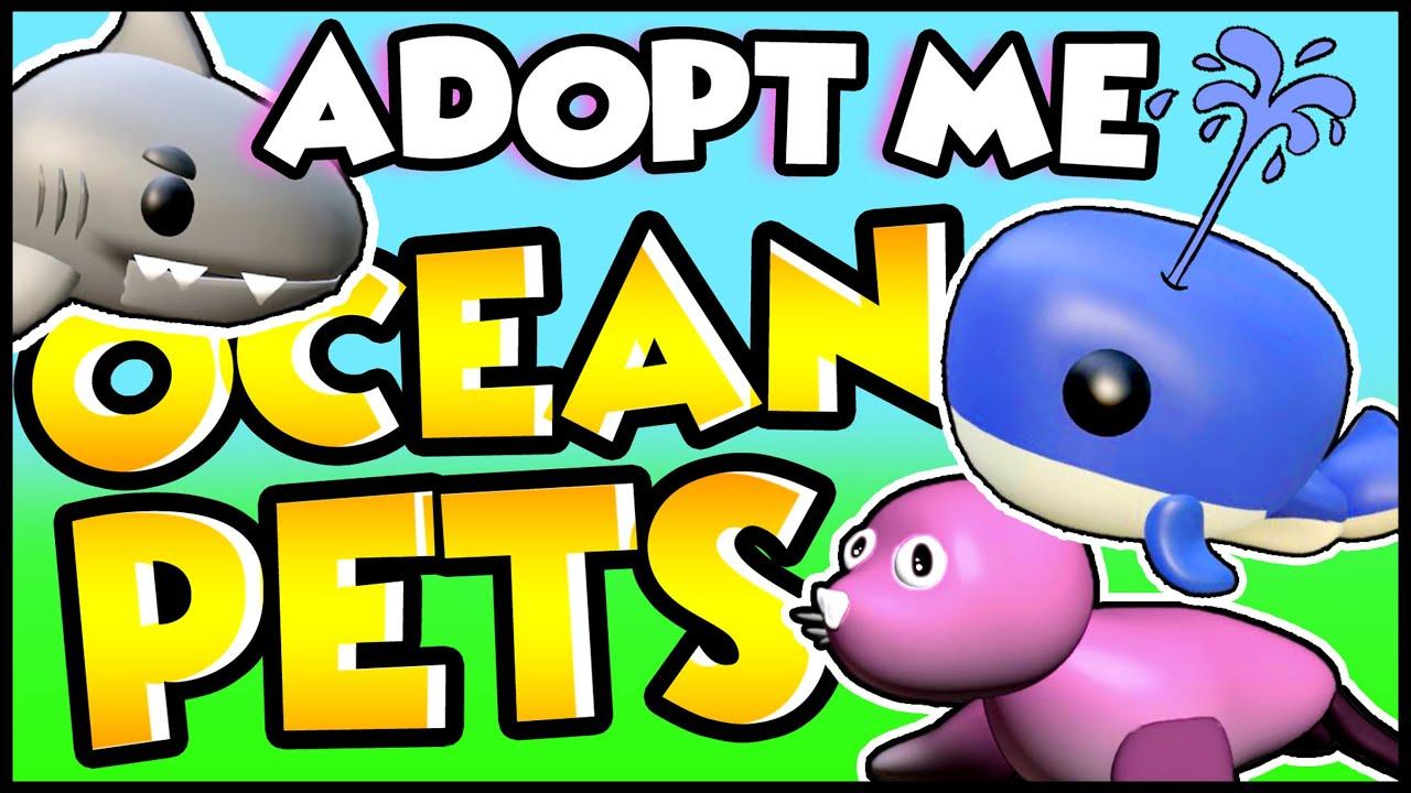 New Sea Pet Update In Adopt Me New Adopt Me Ocean Egg Update Youtube