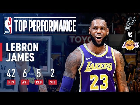 LeBron's 42 Points Leads Lakers to 4th Consecutive Win | December 5, 2018