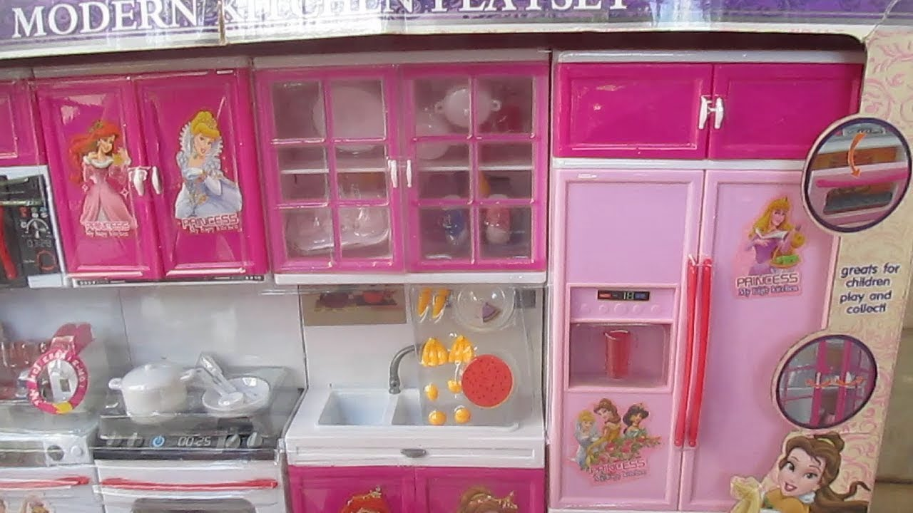 Barbie Dream Doll House Princess Kitchen Toy Playset Unboxing New