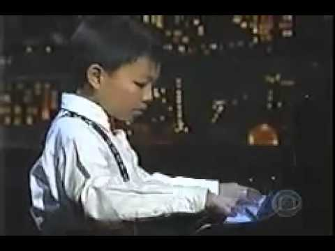 USA's Musically Gifted Youths: 10 year old KIT ARMSTRONG on the Letterman Show (2002)