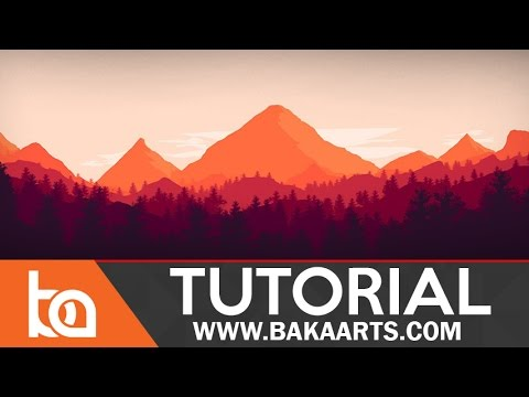 Flat Landscape Photoshop Tutorial for Beginners