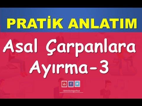 25) ASAL ÇARPANLARA AYIRMA Konu-Soru Çözümü-YKS(TYT)-KPSS-DGS-ALES-Matematik-Abdül Aziz Gürbüz