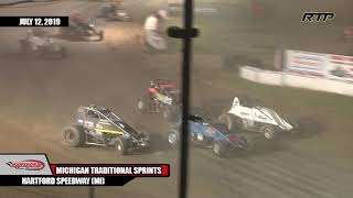 "2019 Michigan Traditional Sprints ""Battle of Michigan"" - Feature Event - (HIghlights)"