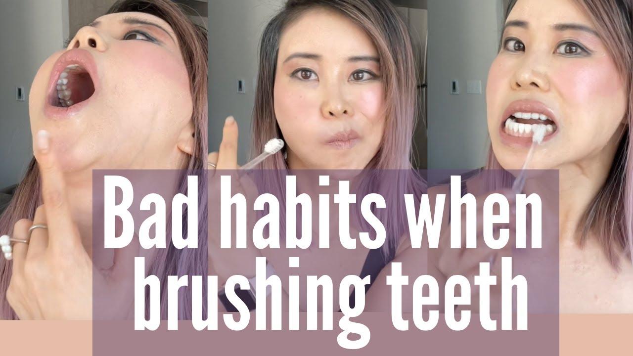 Stop bad habits when brushing teeth   Detén los malos hábitos al cepillarte los dientes