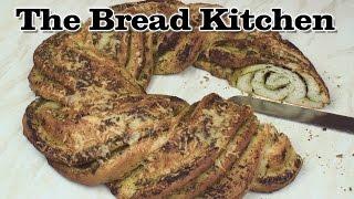 Braided Pesto Bread Ring Recipe in The Bread Kitchen