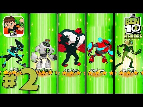 5 STARS Character Unlocked! Ben 10 Heroes - IOS / Android Gameplay Part 2