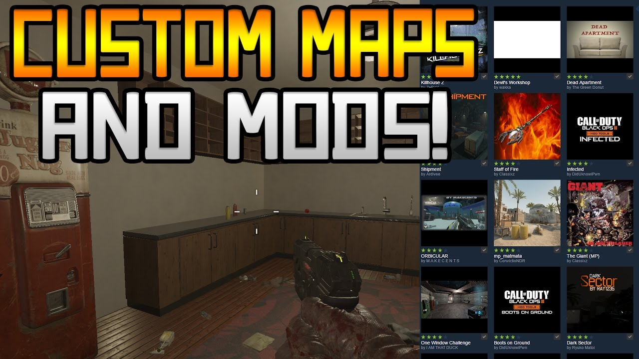 HOW TO PLAY/INSTALL CUSTOM MAPS AND MODS ON BLACK OPS 3! USING STEAM  WORKSHOP!