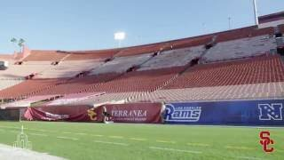 LA Coliseum: USC to Rams Time-Lapse