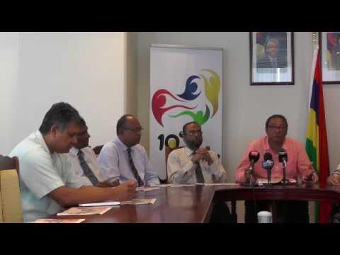 "Maurice Info - Conférence de presse du ministre des Sports "" Youth Concert @ MGI"""