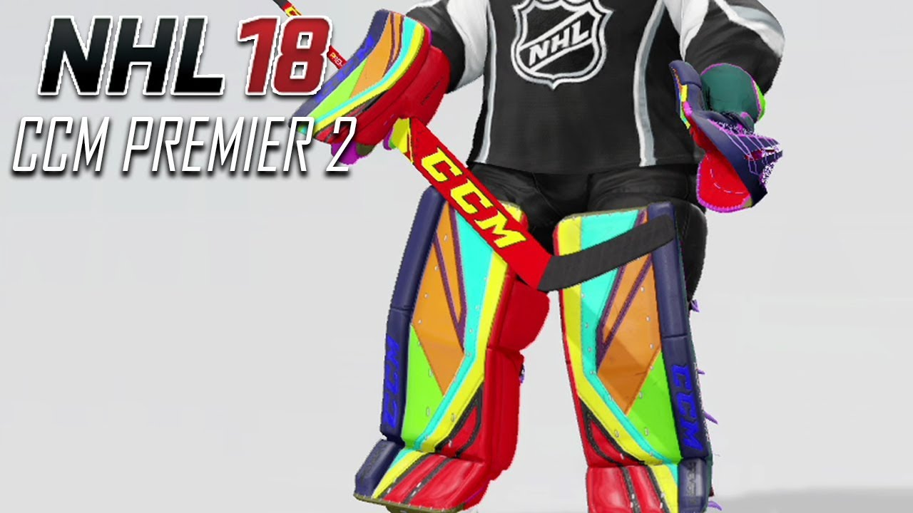 NHL 18 - CCM Premier 2 Goalie Pads Detailed Look