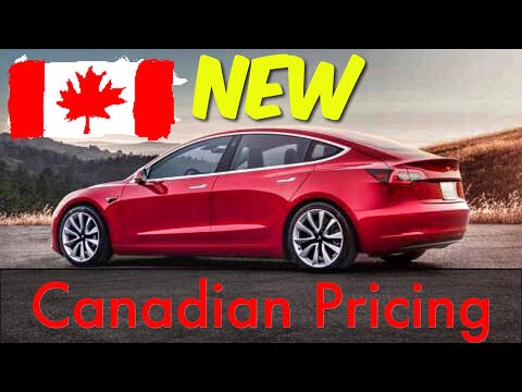 Model 3 - UPDATED Canadian Pricing