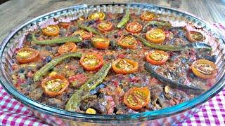 Lezzetine Doyum Olmayan Parmak Yediren Fırında Patlıcanlı Etli Yemek Tarifi | Şehzade Kebabı Yapımı