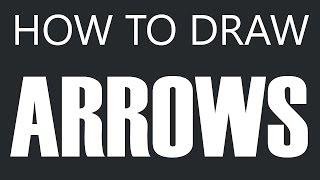 How To Draw An Arrow - Flying Arrow Drawing (Feather Arrows) (Arrowhead)